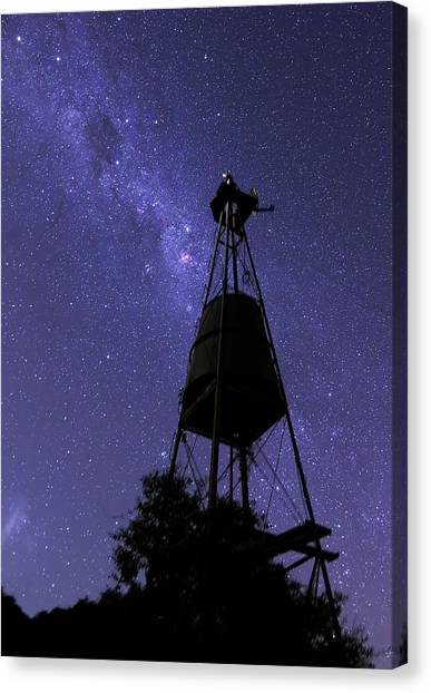 Eta Carina Nebula And Water Tower Canvas Print by Luis Argerich