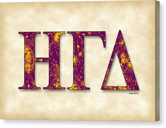 Delta Gamma Canvas Print - Eta Gamma Delta - Parchment by Stephen Younts