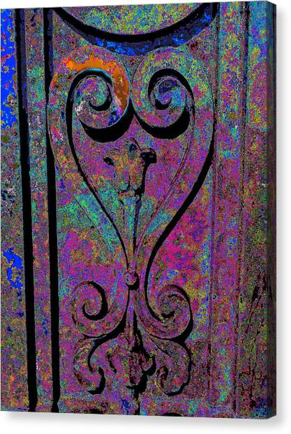 Etched Love Canvas Print