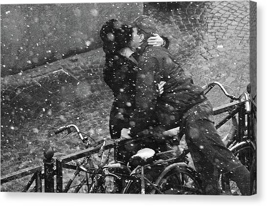 Kiss Canvas Print - Eternity Of The Moment by Jure Kravanja
