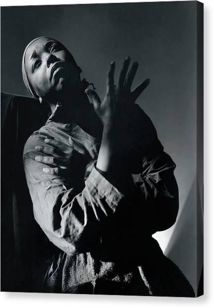 Black Mambas Canvas Print - Ethel Waters As Hagar In Mambas Daughters by Horst P. Horst