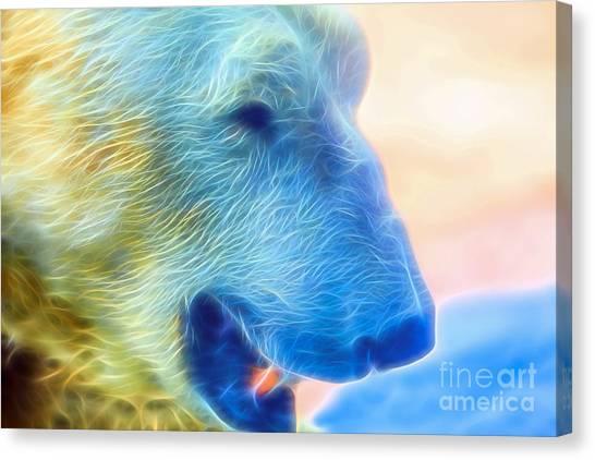 Ethereal Bear Canvas Print