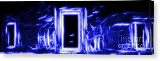 Ethereal Doorways Blue Canvas Print