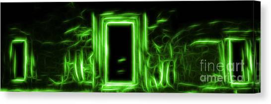 Ethereal Doorways Green Canvas Print