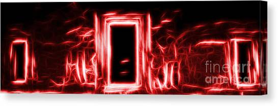 Ethereal Doorways Red Canvas Print