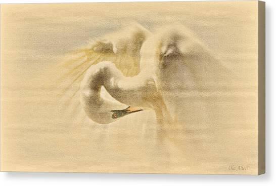 Ethereal Egret Canvas Print