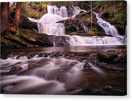 Etherial Canvas Print - Ethereal Flow Garwin Falls Milford Nh by Jeff Sinon