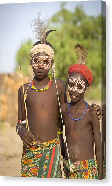Ethiopia Boys Canvas Print