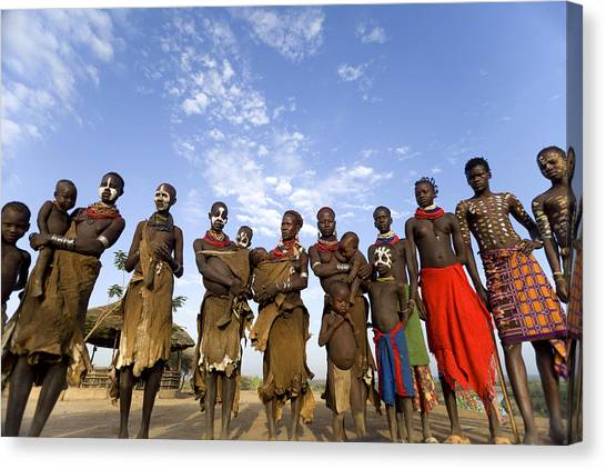 Ethiopia Groups Canvas Print