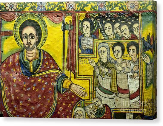 Coptic Art Canvas Print - Ethiopian Church Paintings by Jacek Malipan