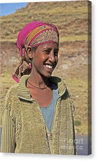 Ethiopian Woman Canvas Print - Ethiopian Woman by Brian Gadsby