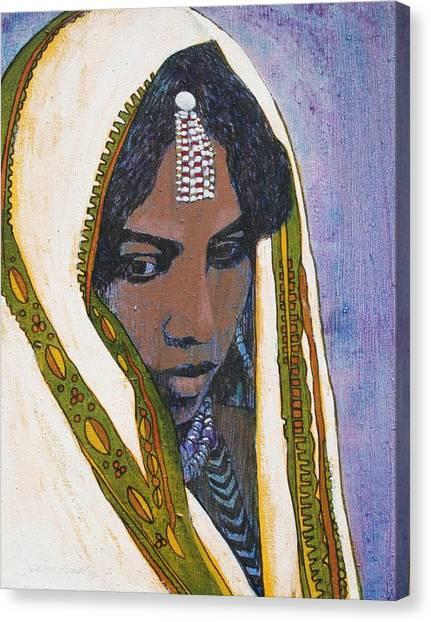Ethiopian Woman Canvas Print - Ethiopian Woman by J W Kelly