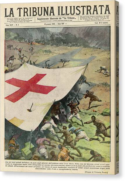 Ethiopians Conceal Men And  Munitions Canvas Print by Mary Evans Picture Library