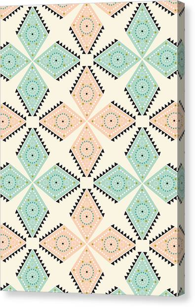 Decorative Canvas Print - Ethnic Folk Print by Susan Claire