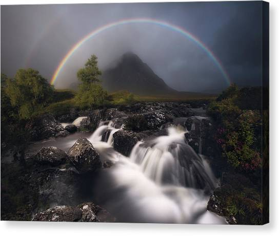 Rainbow Canvas Print - Etive Rainbow by Antonio Prado P?rez