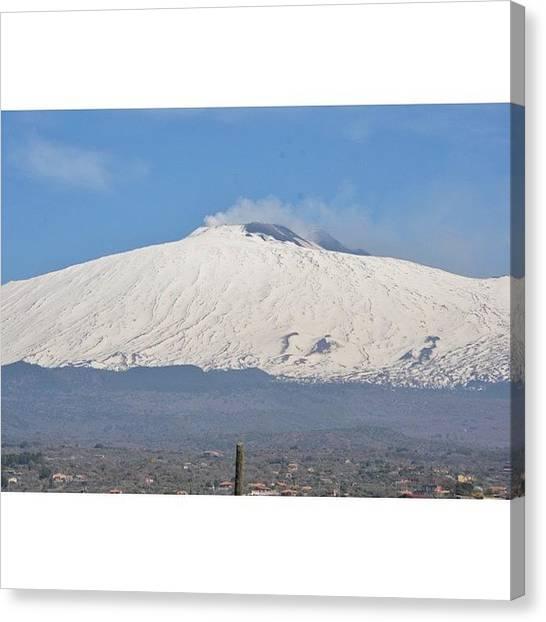 Vulcans Canvas Print - Etna Vulcan View by Adriano La Naia