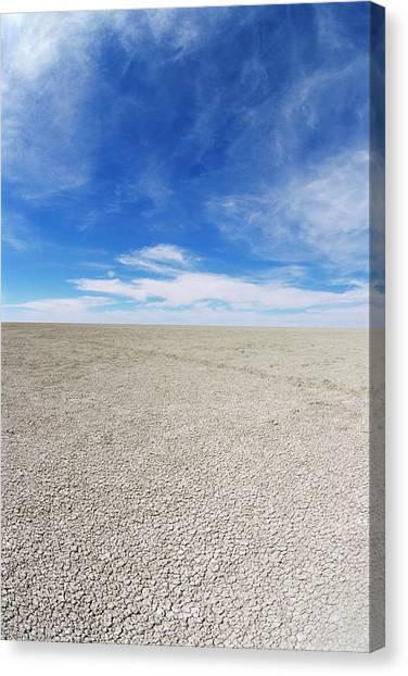 Kalahari Desert Canvas Print - Etosha Pan by Sinclair Stammers/science Photo Library