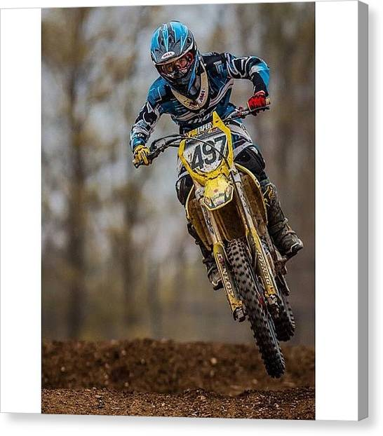 Dirt Bikes Canvas Print - Etown Wednesday's Action by Alhaji Samura