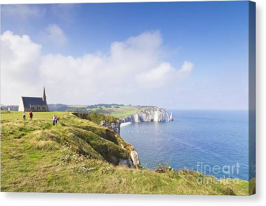 Etretat Canvas Print - Etretat by Colin and Linda McKie