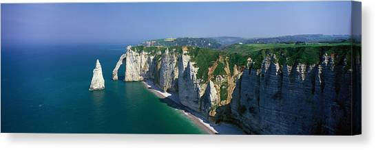 Etretat Canvas Print - Etretat, Normandy, France by Panoramic Images