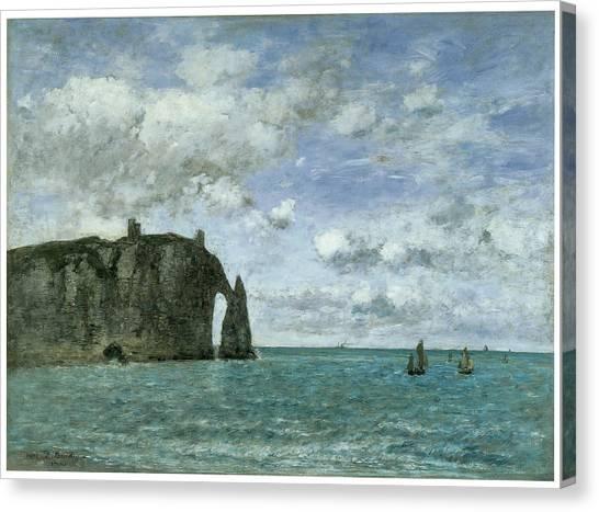 Etretat The Porte D'aval Canvas Print by Eugene Boudin