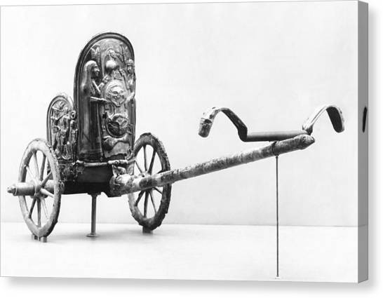 The Metropolitan Museum Of Art Canvas Print - Etruscan Chariot by Underwood Archives