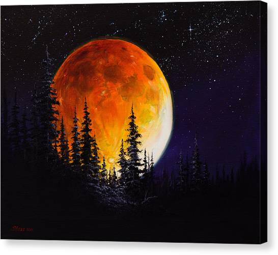 Bob Ross Canvas Print - Ettenmoors Moon by Chris Steele