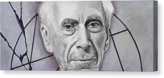Philosophy Canvas Print - Euclid- Bertrand Russell by Simon Kregar