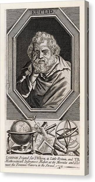 Euclid  Mathematician Of Alexandria Canvas Print by Mary Evans Picture Library