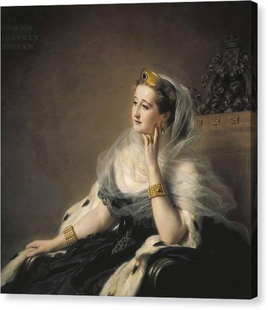 Eugenie, Eug�nia Mar�a De Montijo De Canvas Print by Everett
