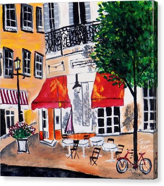 Euro Cafe Canvas Print