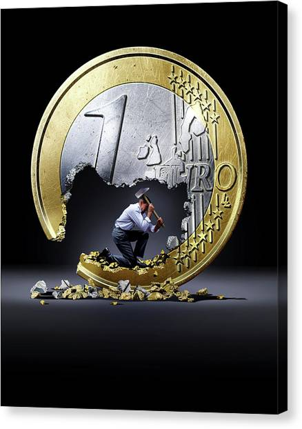 Currency Canvas Print - Euro Crisis by Smetek