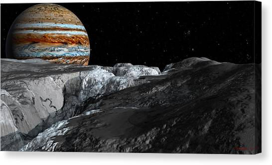 Europa Icefields Canvas Print