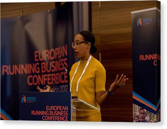 European Running Business Conference Canvas Print by Ulrich Roth