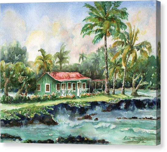 Lava Canvas Print - Eva Parker Woods Cottage by Lisa Bunge