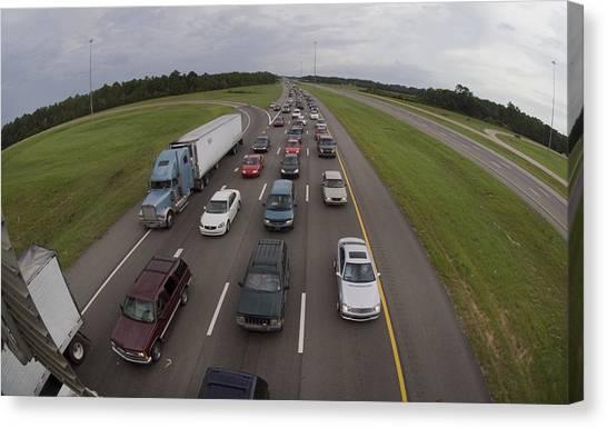Interstates Canvas Print - Evacuation Before Hurricane Katrina by Jim Reed Photography/science Photo Library