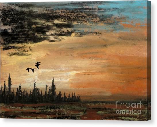 Evading A Storm Canvas Print