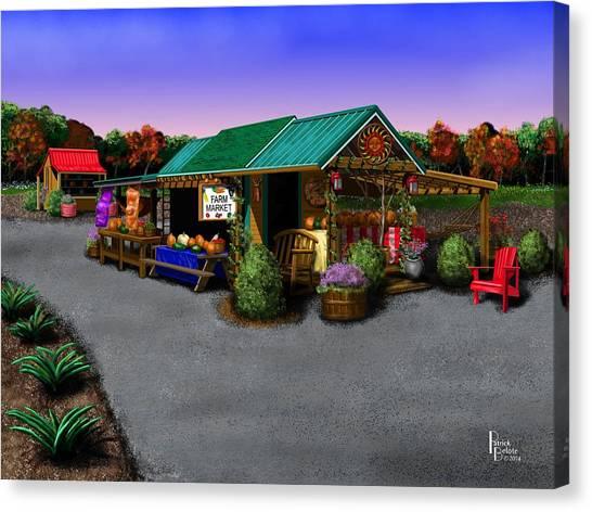 Eva's Farm Market Canvas Print by Patrick Belote