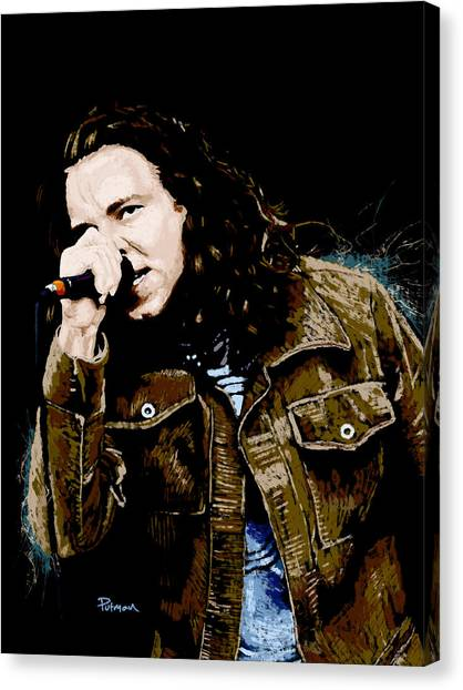 Pearl Jam Canvas Print - Even Flow by Kevin Putman