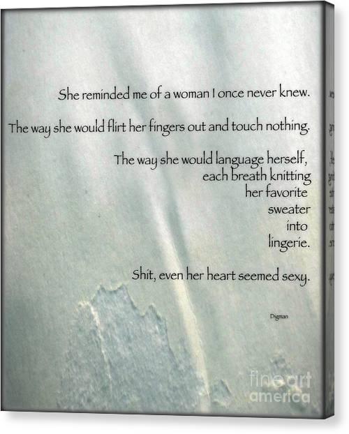 Even Her Heart Seemed Sexy Canvas Print by Steven Digman