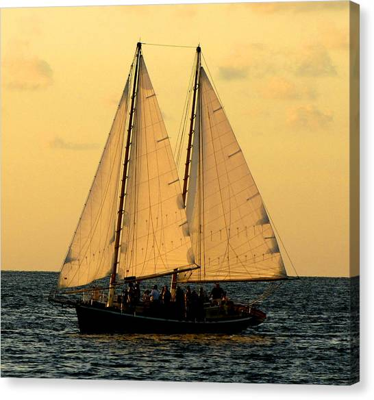 Canvas Print featuring the photograph More Sails In Key West by Bob Slitzan