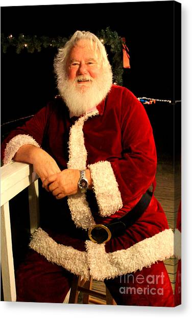 Even Santa Needs A Break Canvas Print