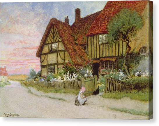 Pinafores Canvas Print - Evening by Arthur Claude Strachan