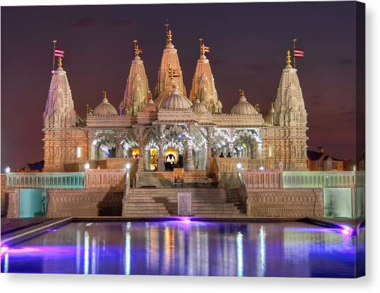 Evening At The Mandir Canvas Print