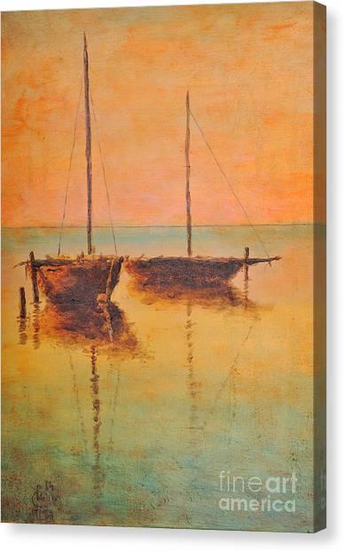 Evening Boats Canvas Print