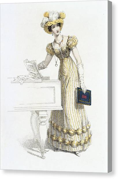 Pianos Canvas Print - Evening Dress, Fashion Plate by English School