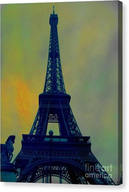 Evening Eiffel Tower Canvas Print