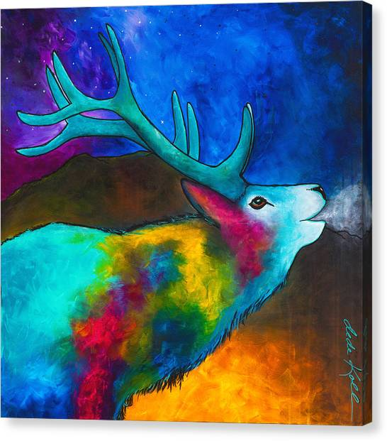 Evening Elk Canvas Print