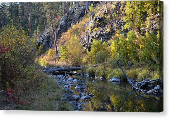 Evening Falls On Spring Creek Canvas Print