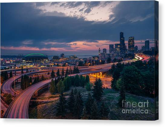 Evening Flow Canvas Print